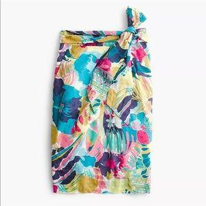 J. Crew | Seaside Vibrant Watercolor Floral Skirt
